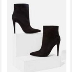 High Heeled Black Bootie